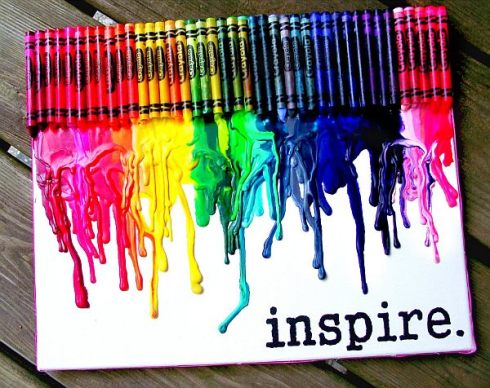 Inspiring-DIY-Melted-Crayon-Wall-Art-Design-with-Colorful-Crayon-Tone-Splashed-over-the-White-Paper-to-Imitate